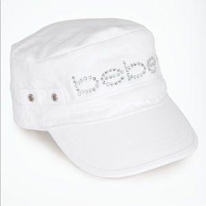 Women White Hat with rhinestones